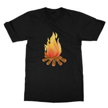 Just Arrived Camping Softstyle Ringspun Fine Jersey 100% Cotton Campfire  T-Shirt-5 Colors - Refresh The Camping Spirit