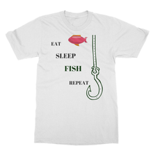 Fishing Themed T-Shirt-Softstyle Ringspun T-Shirt for Fisherman 7 Colors - Refresh The Camping Spirit