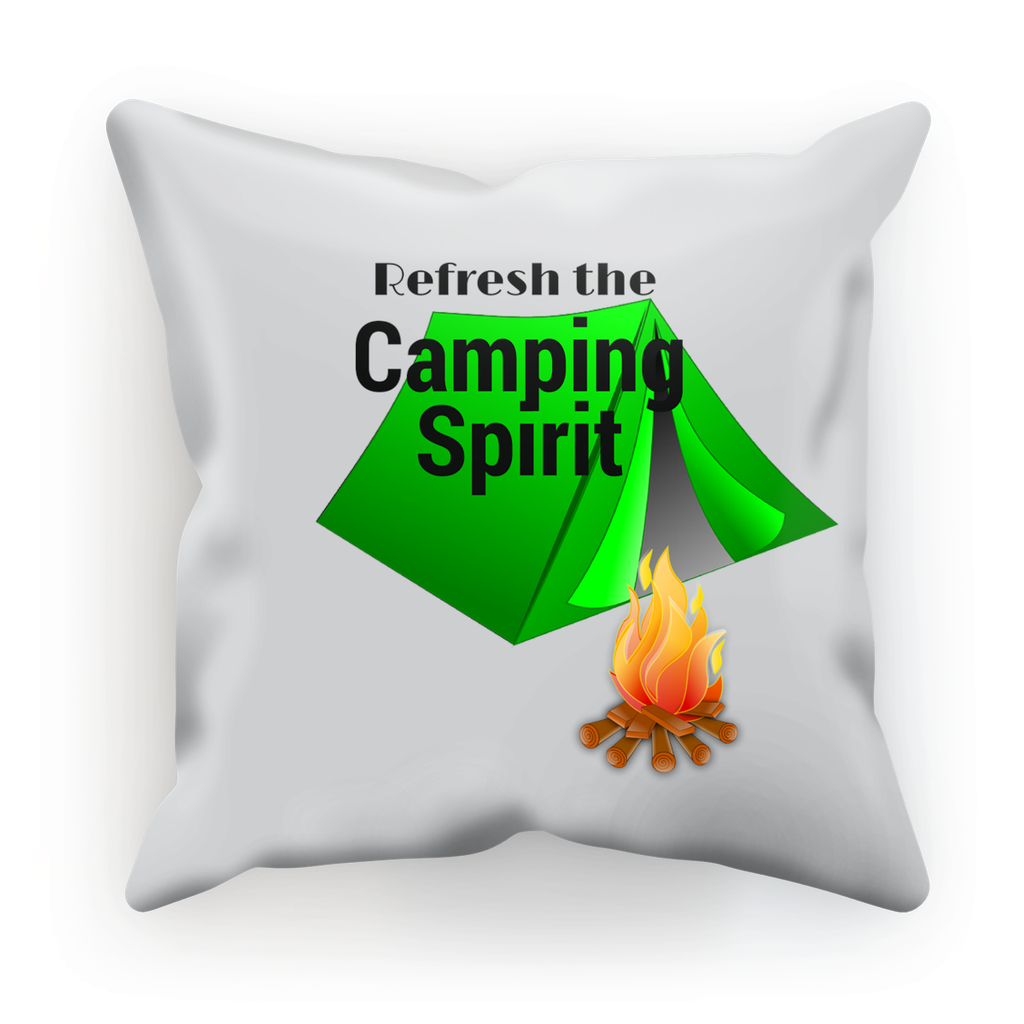 Refresh the Camping Spirit Custom Linen Cushion- Choose 12x12 or 18x18 - Refresh The Camping Spirit