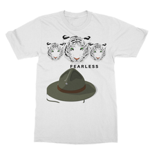 Fearless Tigers Trio Camping Shirt -Softstyle Ringspun T-Shirt - Refresh The Camping Spirit