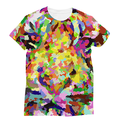New Sublimation T-Shirt with a Wild Lion Theme - Refresh The Camping Spirit