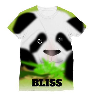 Cute All over Bliss Panda Tee Designed with Sublimation for T-Shirts - Refresh The Camping Spirit