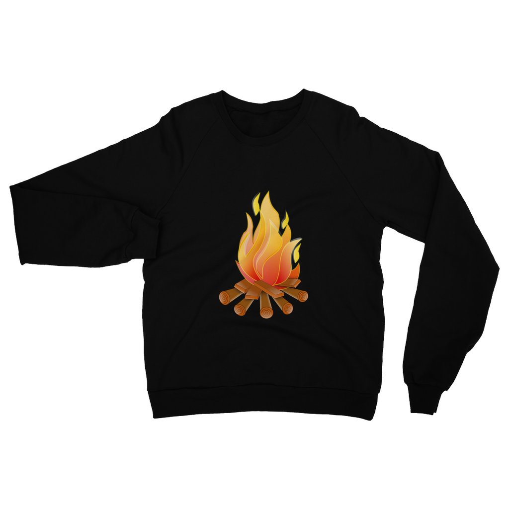 Just Arrived Heavy Blend Crew Neck Gildan Camping Sweatshirt with Campfire logo- 4 colors - Refresh The Camping Spirit