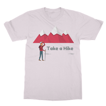 "Beautiful Hiking T-Shirt Softstyle Ringspun T-Shirt-""Take a Hike""-10 Colors - Refresh The Camping Spirit"