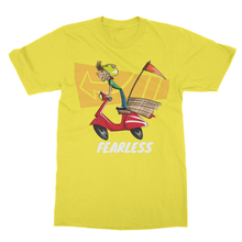 Fearless Rider Bikes Away Softstyle Ringspun  CampingT-Shirt - Refresh The Camping Spirit