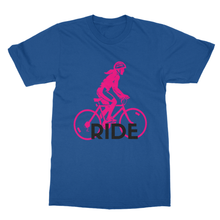RIDE Girl Bicycle Bike TEE with a Soft-style Ring-spun T-Shirt - Refresh The Camping Spirit