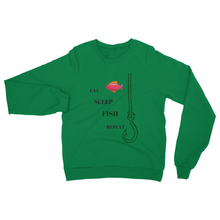 Just Arrived Heavy Blend Fishing Sweatshirt-10 Colors-Theme-Eat-Sleep-Fish-Repeat - Refresh The Camping Spirit