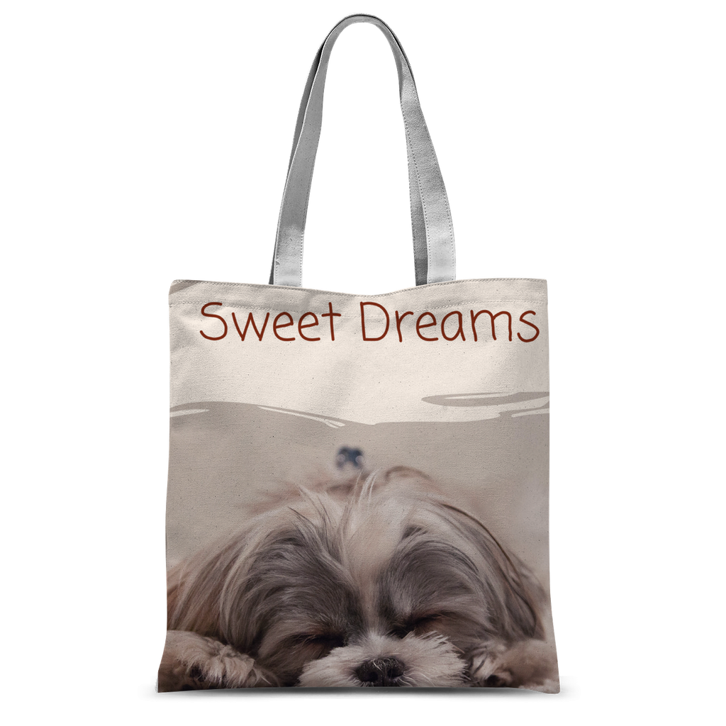 Sleeping Puppy Dog with Sweet Dreams Tote Bag 15