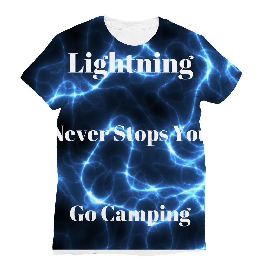 Just Arrived Lightning Themed Sublimation T-Shirt Unisex - Camping T-Shirt - Refresh The Camping Spirit