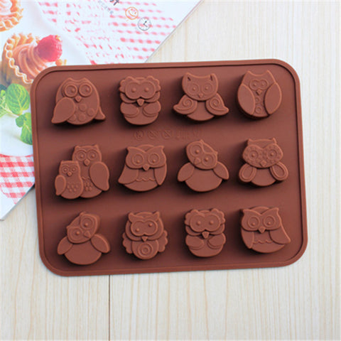 Cute Owl Cake/Chocolate/Cookies Mold