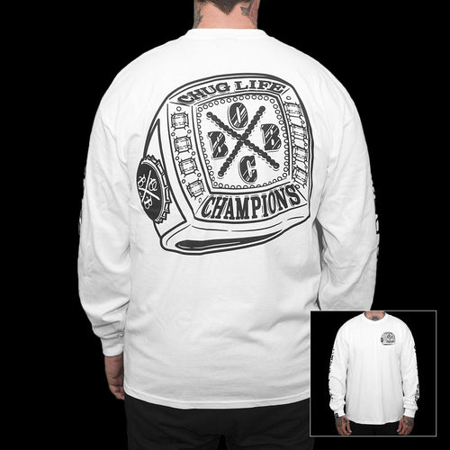 Champions (white L/S tee)