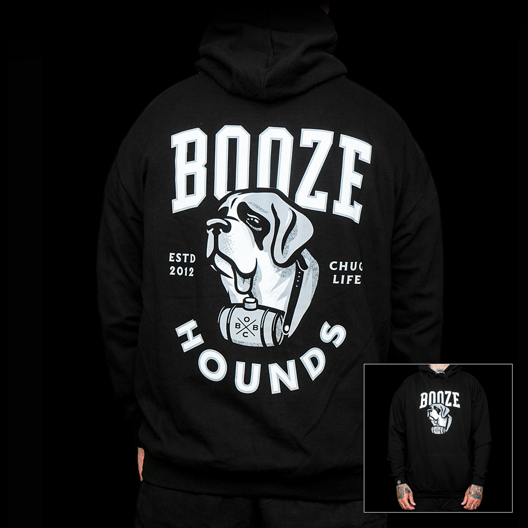 Booze Hounds (black hoodie)