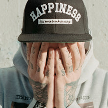 Happiness (black snapback)