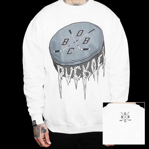 Puck Off (white crewneck)