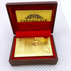 24k Gold Playing Cards Texas Hold'em and Poker Cards
