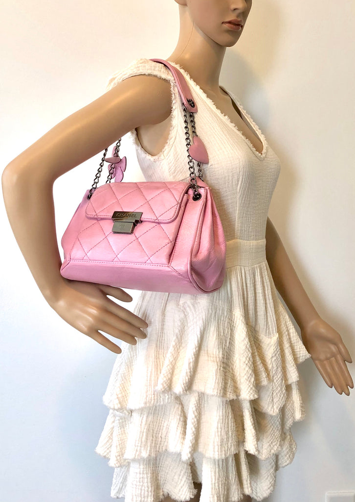 a3ae08a85b32 Chanel Limited Edition Heart Flower Bag Pink – Designer Cravings Store
