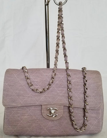 de4b6bad9f54 Chanel Classi Single Flap Silver Chain Shoulder Lavander