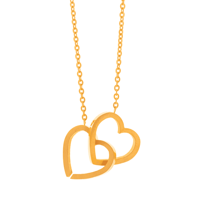 Little Joined Hearts Necklace - Brother & Sisters