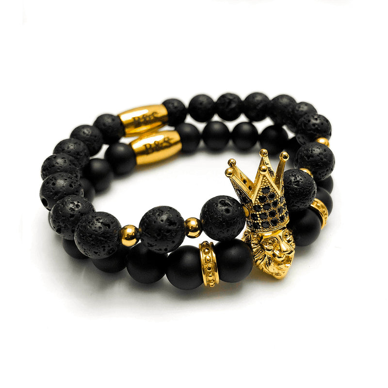 Gold Crowned Lion Set - Brother & Sisters