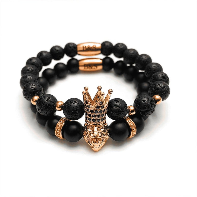 Rose Gold Crowned Lion Set - Brother & Sisters