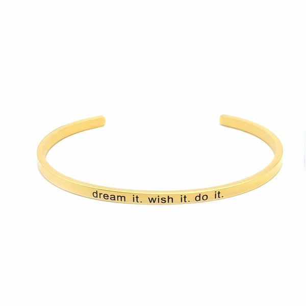 Brother & Sisters bracelet 18k Gold Dream it. wish it. do it