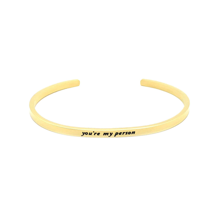Brother & Sisters bracelet 18k Gold You are my person