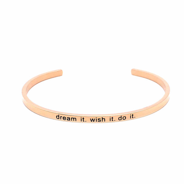 Brother & Sisters bracelet 18k Rose Gold Dream it. wish it. do it