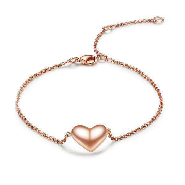 Brother & Sisters bracelet 18k Rose Gold Heart