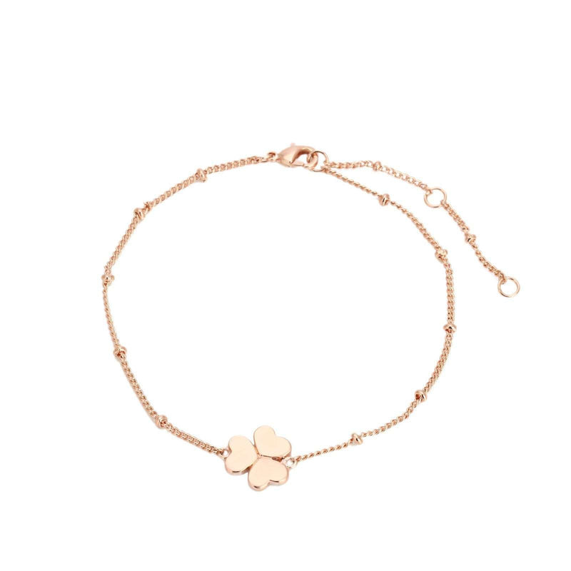 Brother & Sisters bracelet 18k Rose Gold Three-Leafed Clover