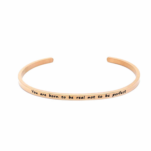 Brother & Sisters bracelet 18k Rose Gold You are born to be real not to be perfect