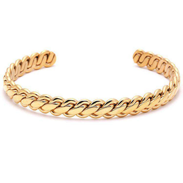 Brother & Sisters bracelet 24k Gold Braided Cuff