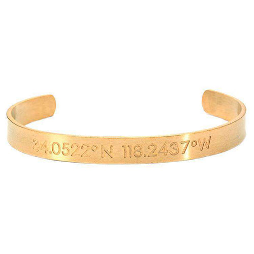 Brother & Sisters bracelet 24k Gold Coordinates Cuff