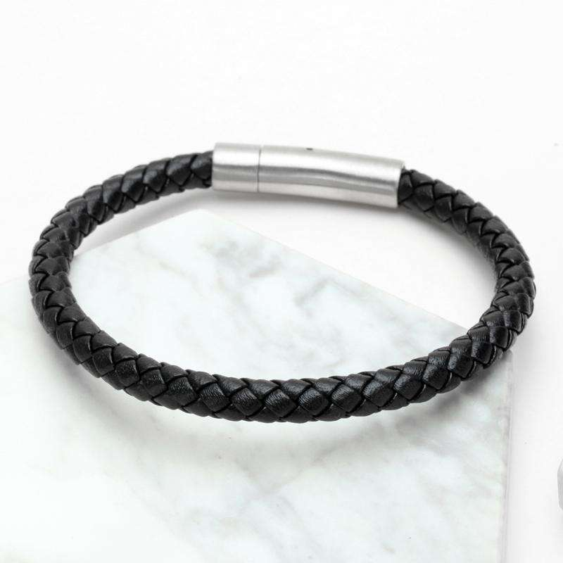 Brother & Sisters bracelet Black Leather