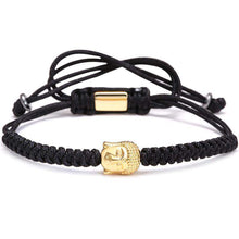 Brother & Sisters bracelet Black Rope Gold Buddha