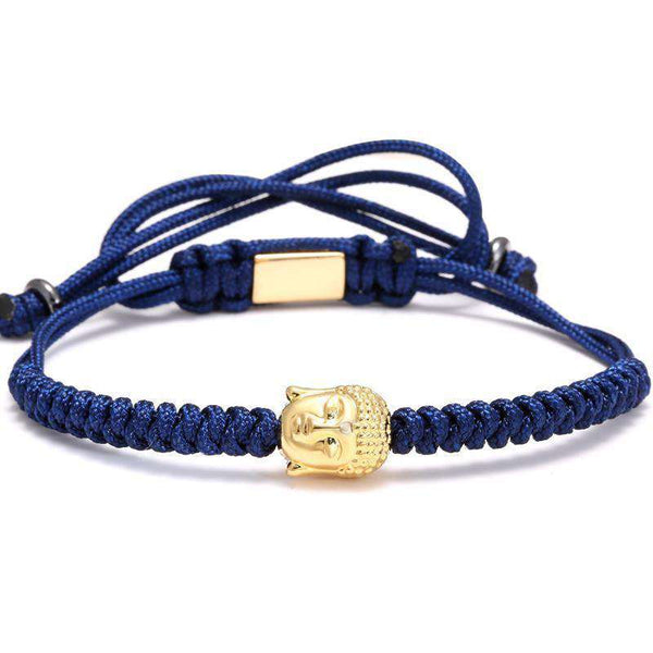 Brother & Sisters bracelet Navy Rope Gold Buddha
