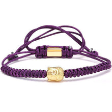 Brother & Sisters bracelet Purple Rope Gold Buddha