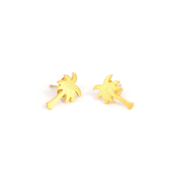 Brother & Sisters earrings 18k Gold Little Palm Tree Earrings