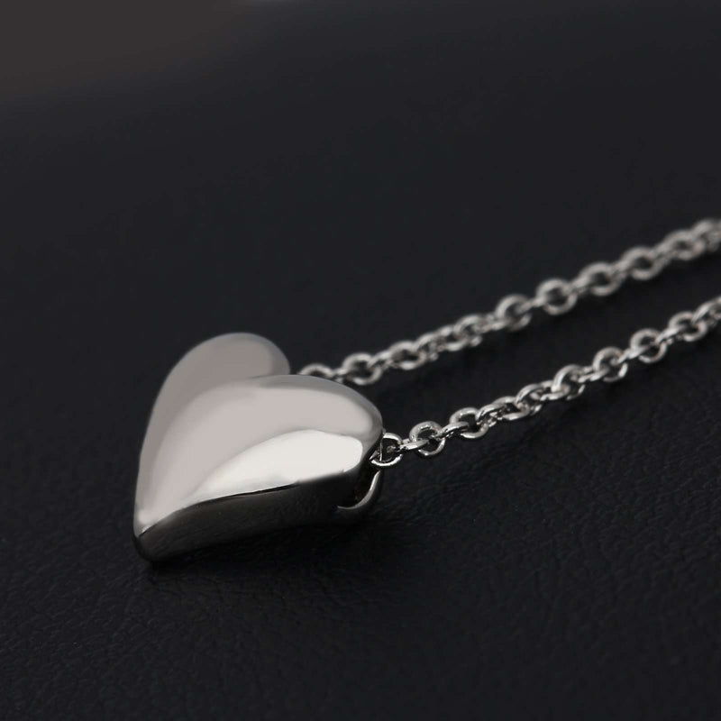 Brother & Sisters necklaces 18k White Gold & Heart Necklace