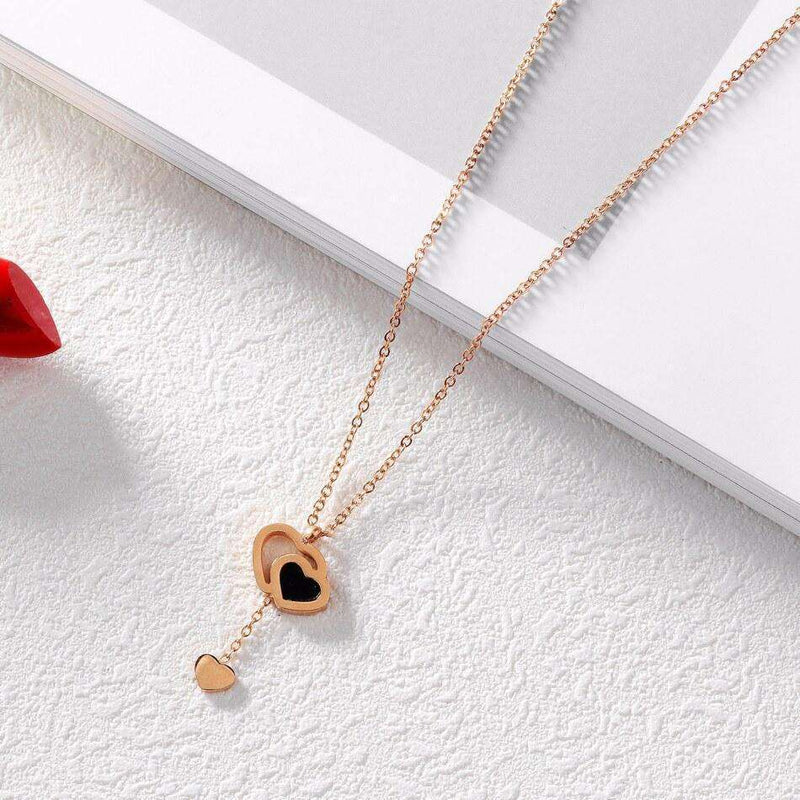 Brother & Sisters necklaces Three Hearts Pendant Necklace