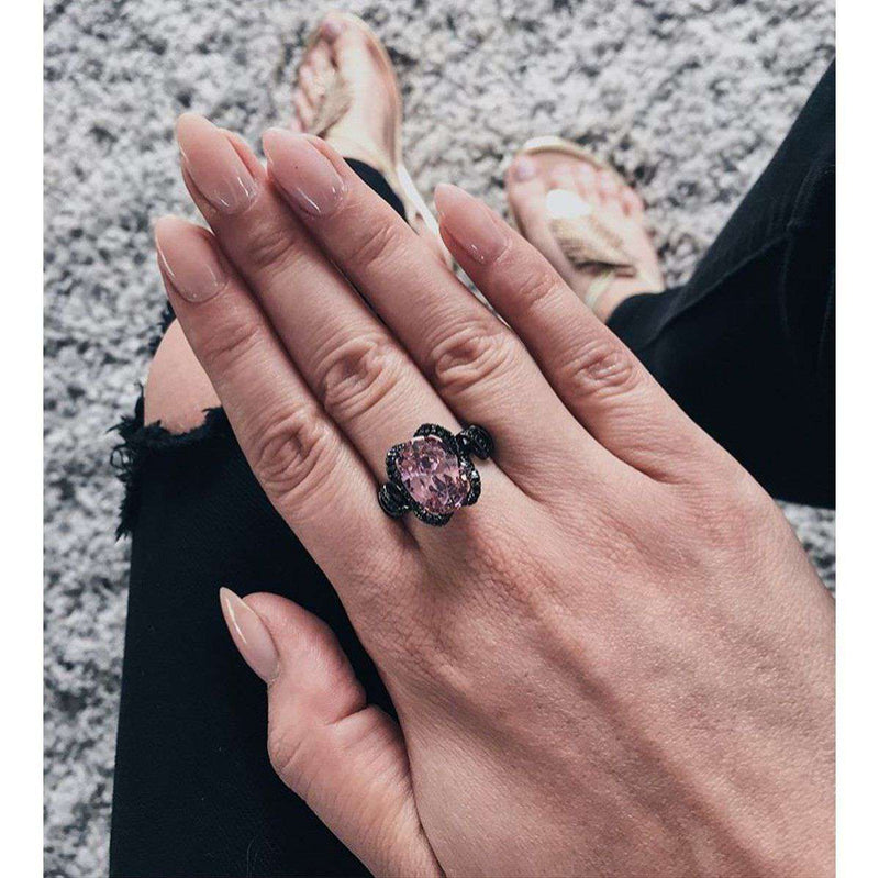 Brother & Sisters ring Pink Crystal Ring