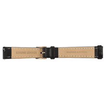 Brother & Sisters watch straps Black Leather Strap & Rose Gold Buckle