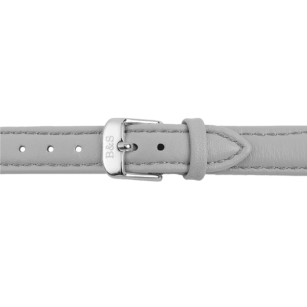 Brother & Sisters watch straps Grey Leather Strap & Silver Buckle