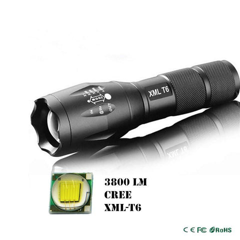 Ultra Bright 5 Mode CREE LED 3800 Lumen Zoom Flashlight