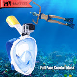 Full Face Snorkel Mask with GoPro Camera Mount