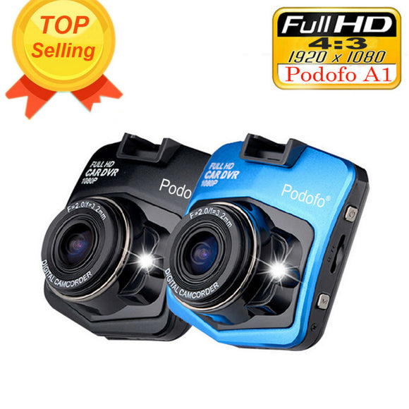 Podofo A1 Mini DVR Dashcam - Full HD 1080P Video with Nightvision