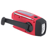 Solar Power/Hand Crank Phone Charger, 3 LED Flashlight, & AM/FM/WB Radio - Waterproof