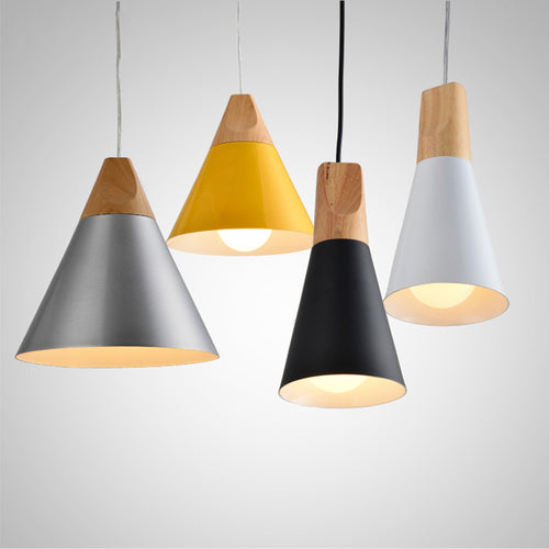 Slope Wood and Aluminum Pendant Lights