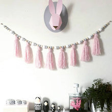 Kids Baby Nordic Style Wall Wooden Tassel Decorative Props For Kids Room