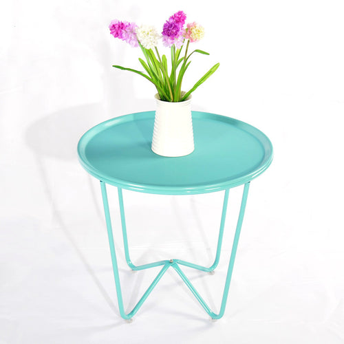 Aqua Iron Side Table