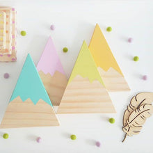 Nordic Top Woodland Wood Mountain Decorative Handmade Kids Bookends
